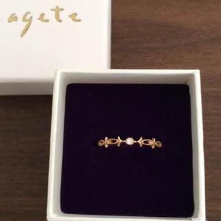 アガット(agete)のagete♡K10ダイヤリング(リング(指輪))