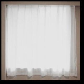 ムジルシリョウヒン(MUJI (無印良品))の【美品】大人気♪無印良品♪洗濯可♪透けにくい防炎レースカーテン(レースカーテン)