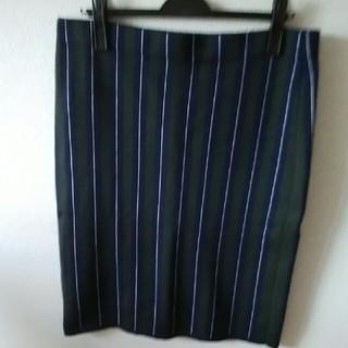 ニジュウサンク(23区)の【23区】ピンストライプのニットスカート(ひざ丈スカート)