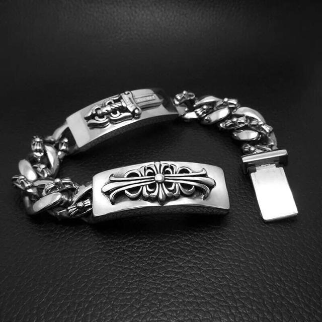 黒墨コーティング クロスブレスレット メンズのアクセサリー(ブレスレット)の商品写真