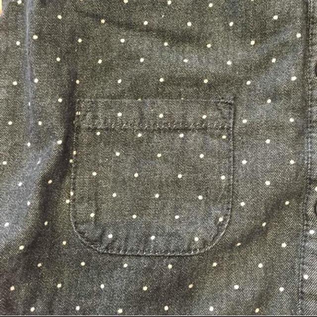 MUJI (無印良品)(ムジルシリョウヒン)の無印良品 子供服 シャツワンピース 90センチ キッズ/ベビー/マタニティのキッズ服 女の子用(90cm~)(ワンピース)の商品写真