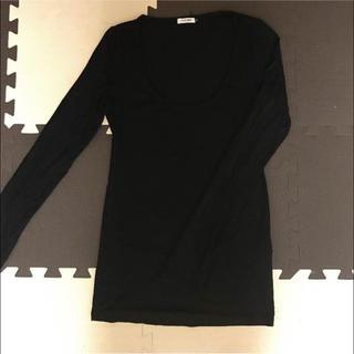 ルシェルブルー(LE CIEL BLEU)のルシェルブルー 長袖Tシャツ サイズ38 ブラック (Tシャツ(長袖/七分))