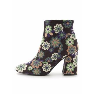 リリーブラウン(Lily Brown)のLily Brown チェルシーコラボ ブーツ グリーン M23.5cm(ブーツ)