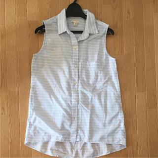ギャップ(GAP)のGAPストライプノースリーブシャツ(シャツ/ブラウス(半袖/袖なし))