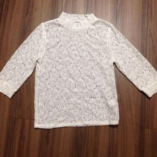 ジーユー(GU)のg.uレースロンT(Tシャツ(長袖/七分))