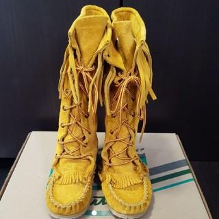 アミモック(AMIMOC)のブーツ スエードモカシンブーツ AMIMOC(ブーツ)