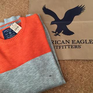 アメリカンイーグル(American Eagle)のXSサイズ★アメリカンイーグル カラーブラッククルーセーター(ニット/セーター)