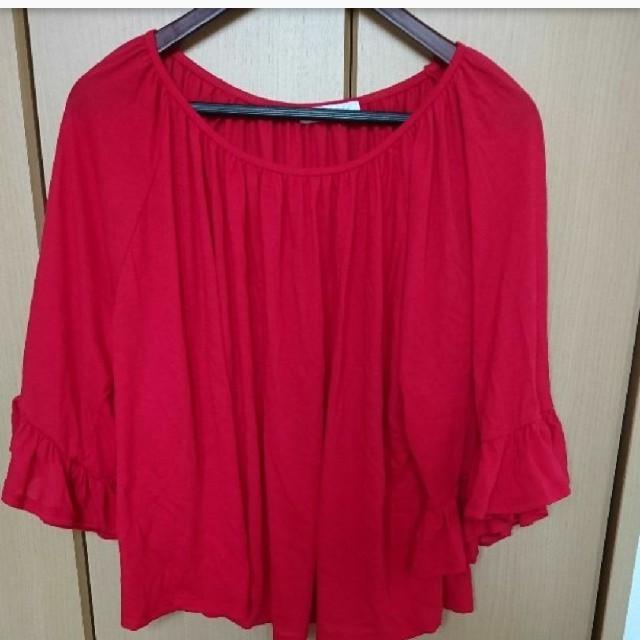 服 赤 レディースのトップス(カットソー(長袖/七分))の商品写真