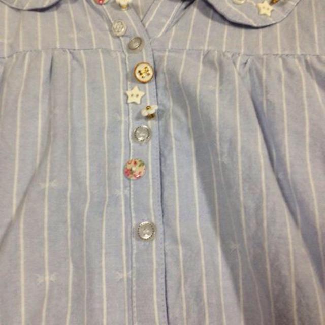 OLIVEdesOLIVE(オリーブデオリーブ)のブルー*シャツ レディースのトップス(シャツ/ブラウス(半袖/袖なし))の商品写真