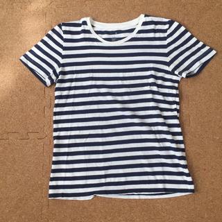 ムジルシリョウヒン(MUJI (無印良品))の無印良品ボーダーTシャツ サイズM(Tシャツ(半袖/袖なし))