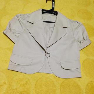 半袖ジャケット(ノーカラージャケット)