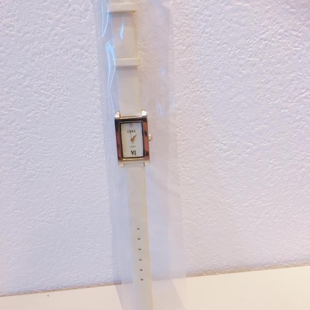 【新品未開封】CREA腕時計 ホワイト アナログ レディースのファッション小物(腕時計)の商品写真