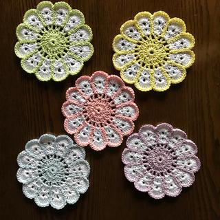 レース編み ドイリーコースター(キッチン小物)