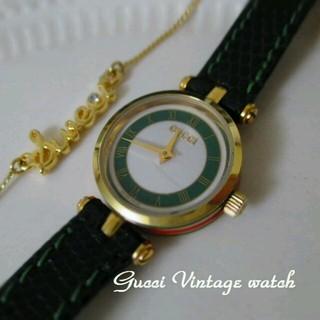 dd1eff1d168c グッチ ヴィンテージ 腕時計(レディース)(グリーン・カーキ/緑色系)の ...