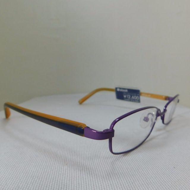 アルク ★ パープル&イエロー系◆フルリム★A17 M メンズのファッション小物(サングラス/メガネ)の商品写真