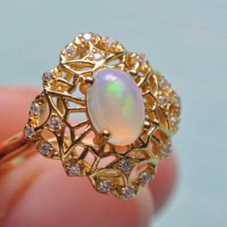 値下がり  Opal天然オパール指輪 (リング(指輪))