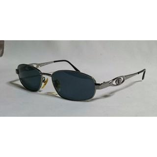 ジャンニヴェルサーチ(Gianni Versace)の正規美 ヴェルサーチ ヴィンテージ メデューサメタルサングラス黒×クローム 眼鏡(サングラス/メガネ)