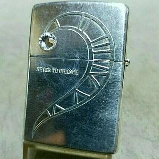 ジッポー(ZIPPO)の中古美品❤12C'Zippo銀張り❤ネバーチェンジ❤送料無料❤(タバコグッズ)