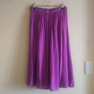 ノーブル(Noble)のNOBLE spick-and-span モシャ織りシルクスカート(ひざ丈スカート)