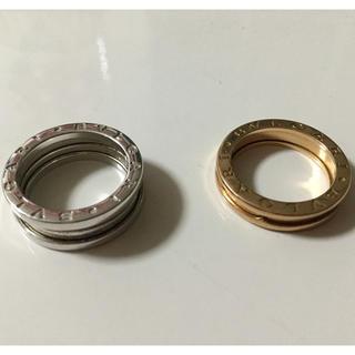 ブルガリ(BVLGARI)のブルガリリング シルバー&ピンクゴールド(リング(指輪))