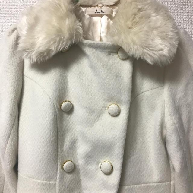 dazzlin(ダズリン)のdazzlin ホワイトファーコート レディースのジャケット/アウター(毛皮/ファーコート)の商品写真
