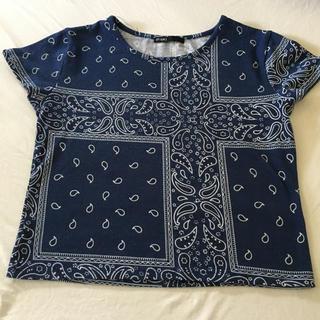 スピンズ(SPINNS)のスピンズ♡Tシャツ♡バンダナ柄♡(Tシャツ(半袖/袖なし))