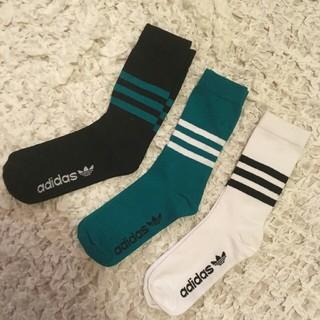 アディダス(adidas)のadidas ライン入りソックス(ソックス)