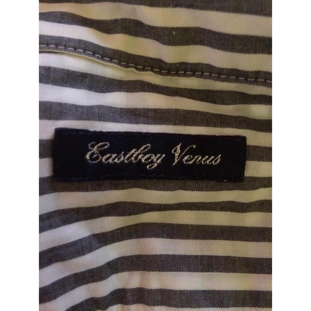 EASTBOY(イーストボーイ)の高校の制服にオススメ!ギンガムチェック ブラウス 黒×白 レディースのトップス(シャツ/ブラウス(半袖/袖なし))の商品写真