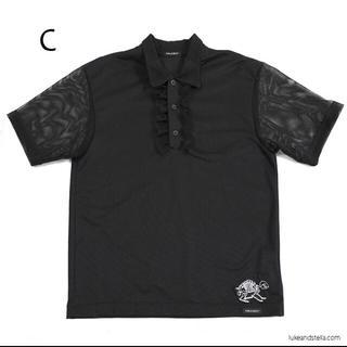 ミルクボーイ(MILKBOY)のFRILLED POLOS  黒メッシュ(ポロシャツ)