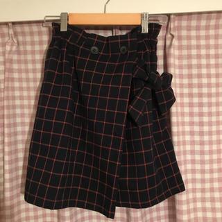 ココディール(COCO DEAL)のCOCO DEAL チェックラップ風スカート(ミニスカート)