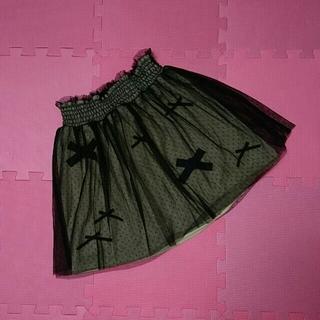 ニーナミュウ(Nina mew)の専用!お取り置き17日! ニーナミュウ  リボン スカート チュール  ニット(ミニスカート)
