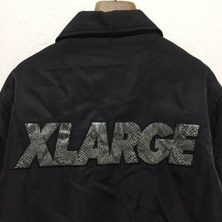 エクストララージ(XLARGE)の【X-LARGE】ヘビ柄ビッグロゴ ナイロンコーチジャケット S 美品(ナイロンジャケット)