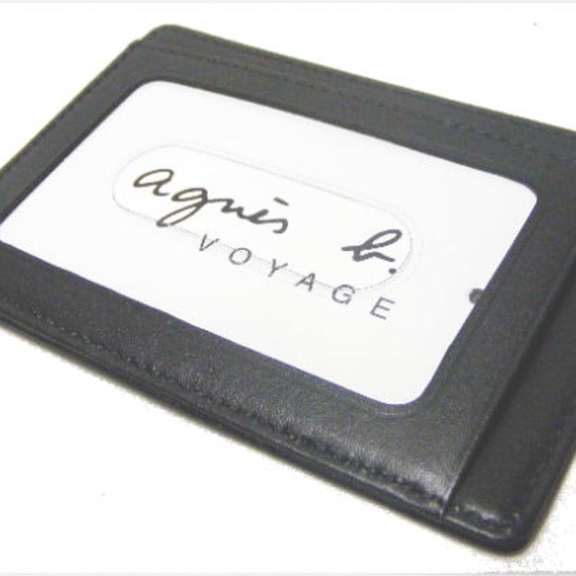 agnes b.(アニエスベー)のアニエスベー パスケース 定期入れ 黒 メンズのファッション小物(名刺入れ/定期入れ)の商品写真
