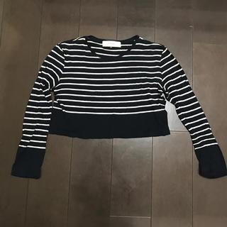 ルシェルブルー(LE CIEL BLEU)の【 le ciel bleu 】 ルシェルブルー ボーダーtシャツ(Tシャツ(長袖/七分))