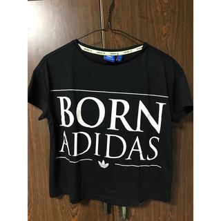 アディダス(adidas)のadidas originals☆ショート丈ロゴtee(Tシャツ/カットソー(半袖/袖なし))