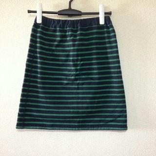 ベルメゾン(ベルメゾン)のベルメゾンボーダーリバーシブルスカート(ひざ丈スカート)