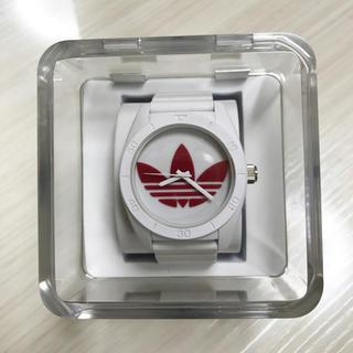 アディダス(adidas)のadidas腕時計レッド♡(腕時計)