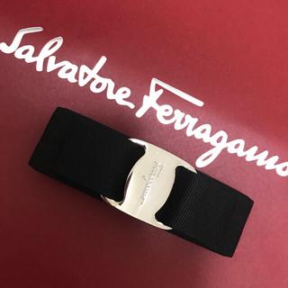 サルヴァトーレフェラガモ(Salvatore Ferragamo)の美品 フェラガモバレッタ♡ブラック×シルバー(バレッタ/ヘアクリップ)