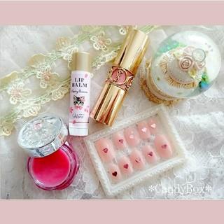 ピンク シュガー キャンディー*ジェルネイルチップ