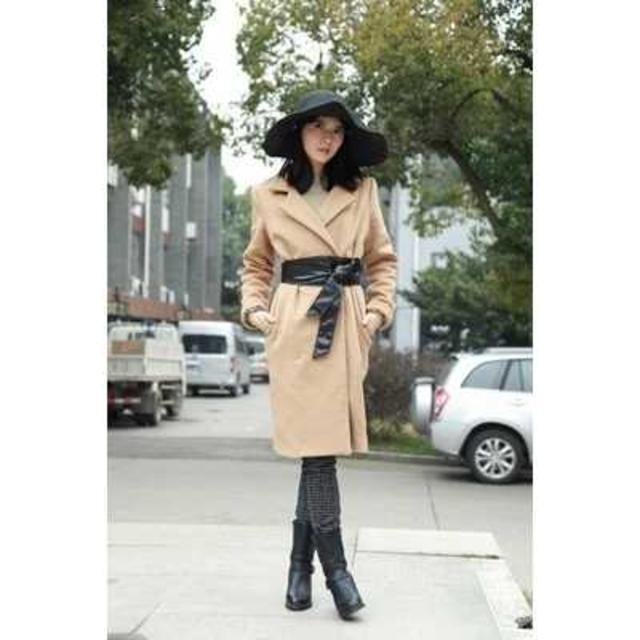 【ブラック】サッシュベルト フェイクレザー レディース ベルト レディースのファッション小物(ベルト)の商品写真