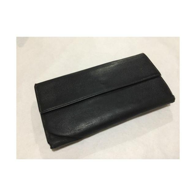d0f0082accec BVLGARI(ブルガリ)のBVLGARIブラックレザー小銭入れ付メンズ長財布ウォレット メンズ