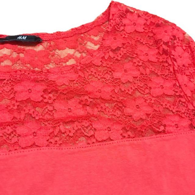 H&M(エイチアンドエム)のH&M 半そでTシャツ オレンジ  レディースのトップス(Tシャツ(半袖/袖なし))の商品写真