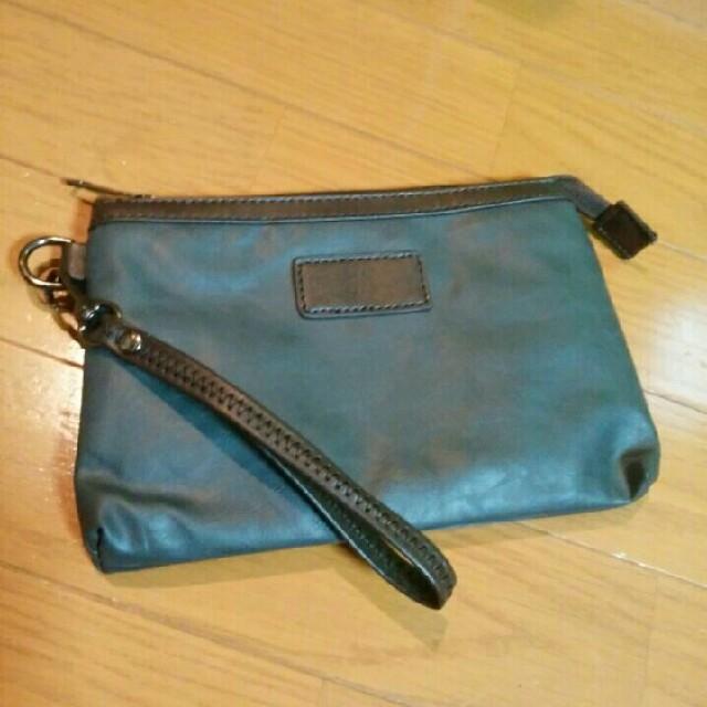 【未使用品】シンプルデザインのミニポーチ 灰/グレー メンズのバッグ(その他)の商品写真