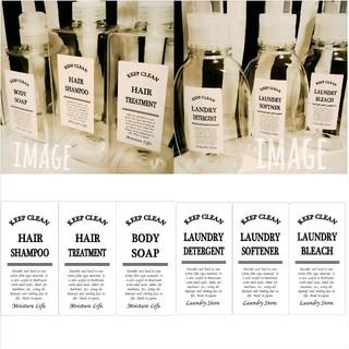 【Msize】耐水&油面対応シャンプーランドリーラベルシール♥6枚 バスルーム(その他)