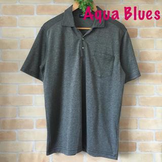 アクアブルー(Aqua blue)の美品✴︎メンズ*Aqua Blues半袖カットソー/ポロシャツ☆(ポロシャツ)