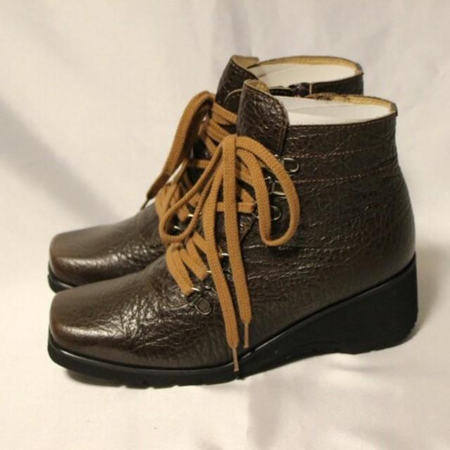 ブラウン&ブラック  21.5ブーツ レディースの靴/シューズ(ブーツ)の商品写真