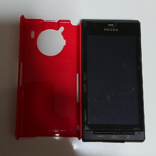 トウシバ(東芝)のREGZA Phone T01C ☆ハードケース付き☆(スマートフォン本体)