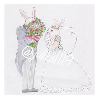 ウェディングツリーA4 ウサギ(ウェルカムボード)