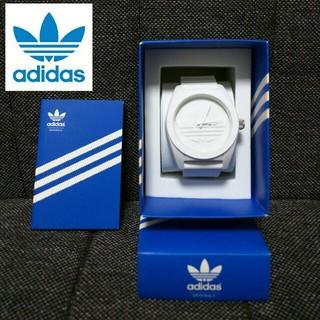 アディダス(adidas)のアディダス ホワイトラバーウォッチ(ラバーベルト)