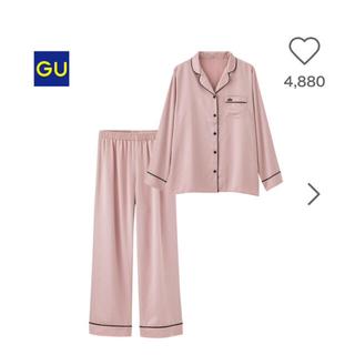 ジーユー(GU)のGU サテン パジャマ ピンク (パジャマ)